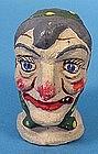 Vintage Halloween Witch Hand Puppet Head