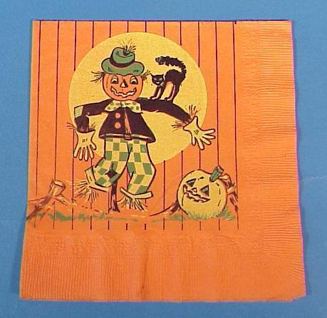 Vintage Halloween Paper Party Napkin