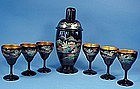 Japanese Lacquer Cocktail Shaker & Glasses