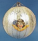 Wire-Wrapped Angel Glass Christmas Ornament