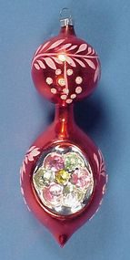 Large Blown Glass Indent Christmas Ornament