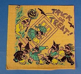Vintage Halloween Paper Party Napkins