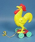 Rosbro Hard Plastic Easter Rooster Pull Toy