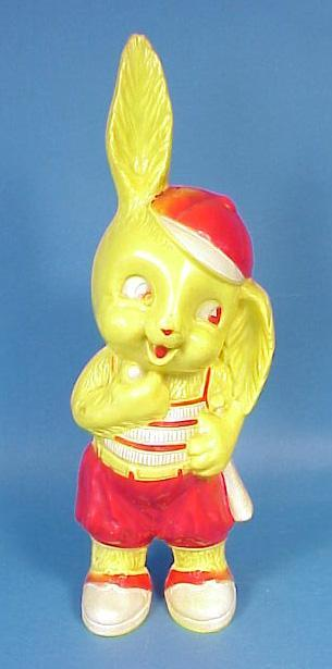 Vintage Hard Plastic Easter Bunny Bank