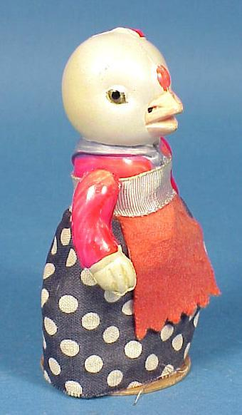 Vintage Celluloid Easter Chick Pop-up Toy