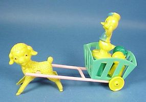 Donald Duck & Cart Easter Candy Container