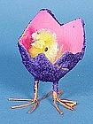 Chenille Chick in Easter Egg Candy Container