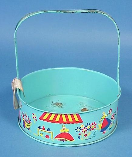Lithographed Tin Easter Basket