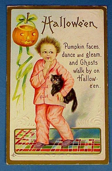 Old Halloweed Post Card
