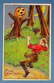 1909 Comic Julius Bien Halloween Post Card