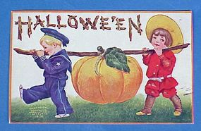1908 Halloween Jack O'Lantern Post Card