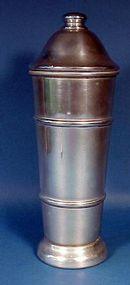 "Art Deco ""Coldseal"" Aluminum Cocktail Shaker"