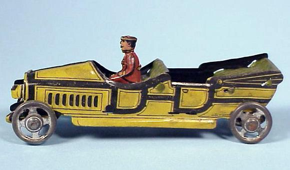 German Litho Tin Penny Toy Automobile