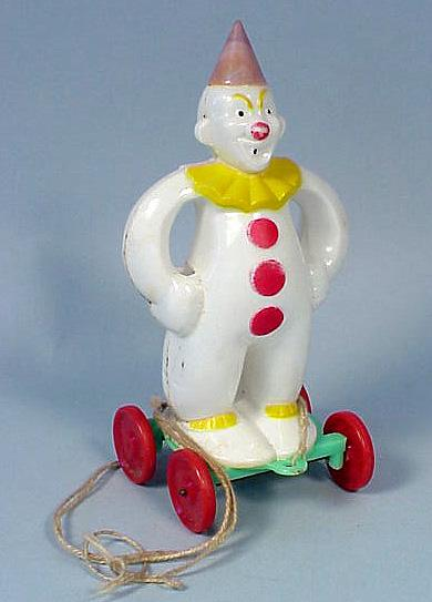 Hard Plastic Clown Holiday Candy Container