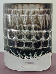 Orrefors Ariel Geometric Vase Ingeborg Lundin
