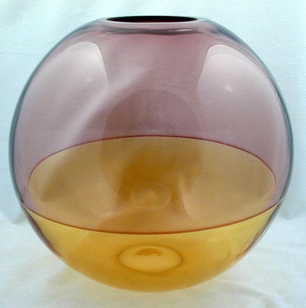 Barbini Murano Incalmo Sphere Bubble Vase