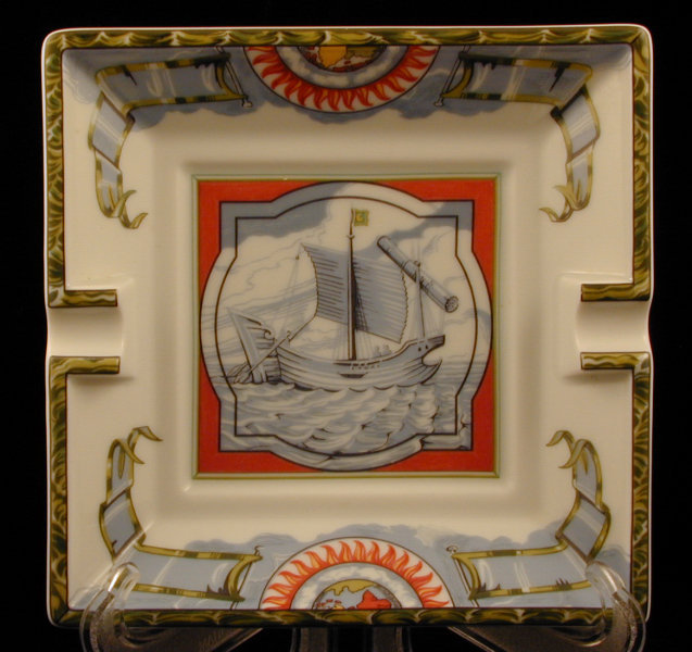 Hermes Porcelain Ashtray Nautical