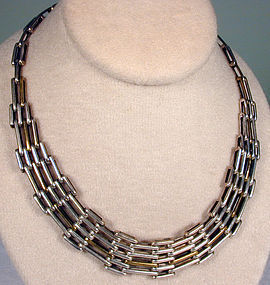 Mexican Sterling Geometric Necklace
