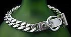 """Hermes """"Boucle Sellier"""" Sterling Bracelet"""