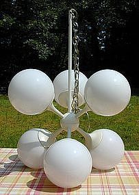 Lightolier Six-light Atomic Sputnik Chandelier