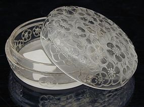 "R. Lalique ""Emiliane"" Powder  Box  (powder jar)"
