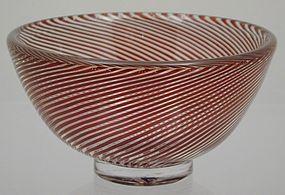 Orrefors Edward Hald Slip Graal Bowl 1954