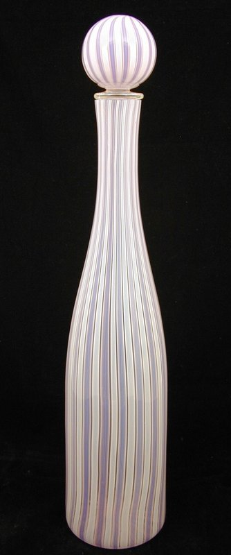 """Fratelli Toso Murano Tall """"A Canne"""" Decanter"""