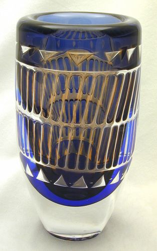 Orrefors Ingeborg Lundin ARIEL Geometric Vase