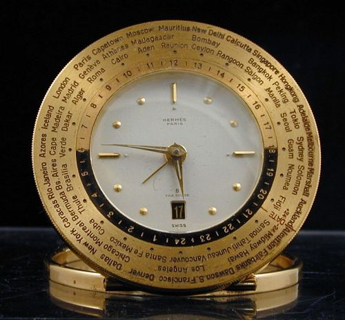 Hermes World Time Travel Clock