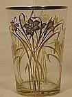 Sterling Overlay Vase