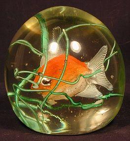 Cenedese Aquarium Paperweight