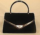 Koret Black Suede Evening Bag