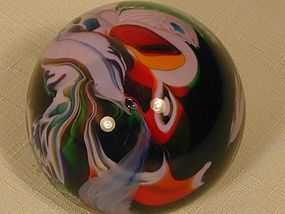 Scrambled Glass Paperweight - Fratelli Toso Murano