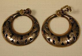 Mexican Sterling Hoop Earrings