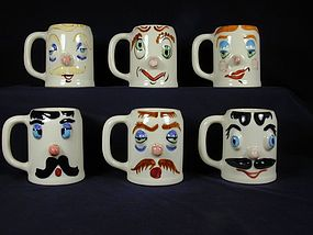 Pfaltzgraff Muggsy Mugs - Set of Six