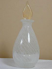 Seguso Merletto Bottle with Gold Foil Stopper