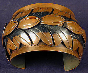 Rebajes Copper Wide Cuff Bracelet and Necklace Set