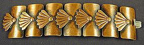 Rebajes Copper Fan and Rectangle Links Bracelet