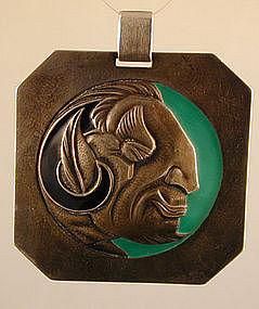 RARE Etienne David French Art Deco Sterling Pendant