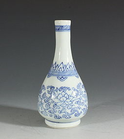 Transitional Blue and White Vase Mid 17thC