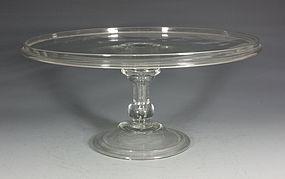 Fine English Glass Tazza C1720/40