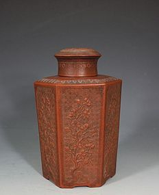 Rare Yixing Tea Canister and Cover 18thC