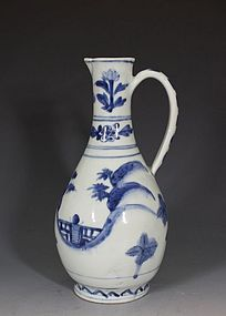 Japanese Arita Blue and White Jug L17thC