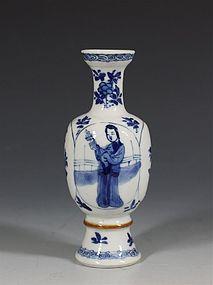 CHINESE BLUE AND WHITE VASE KANGXI C1700