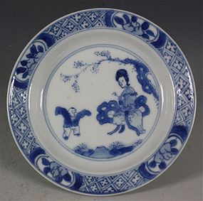 KANGXI BLUE AND WHITE SMALL DISH C1700