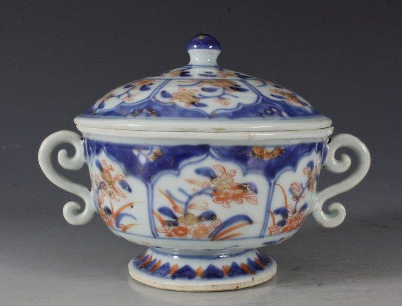 CHINESE IMARI ECUELLE QIANLONG C1740