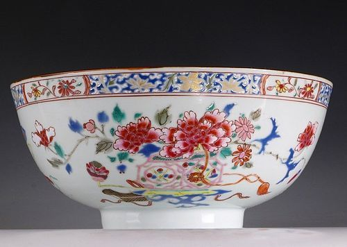 CHINESE FAMILLE ROSE BOWL Qianlong 18THC