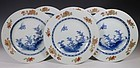 A SET OF SIX CHINESE PLATES QIANLONG 18THC