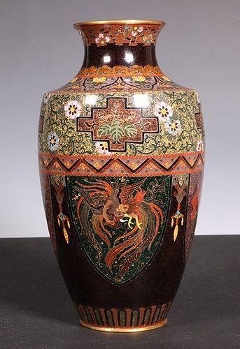 Japanese Cloisonne Vase Meiji