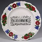 FINE LARGER NAMED GEORGE CHILDS PLATE ROGERS C1840